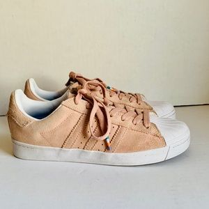 Adidas Pink Suede Skate Superstar Vulc ADV shoe 7